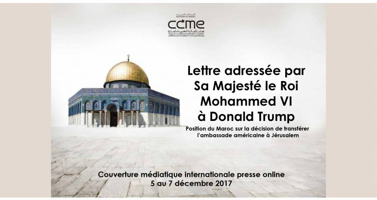 Al Quds/Jérusalem: international press coverage of his Majesty's letter to the US President