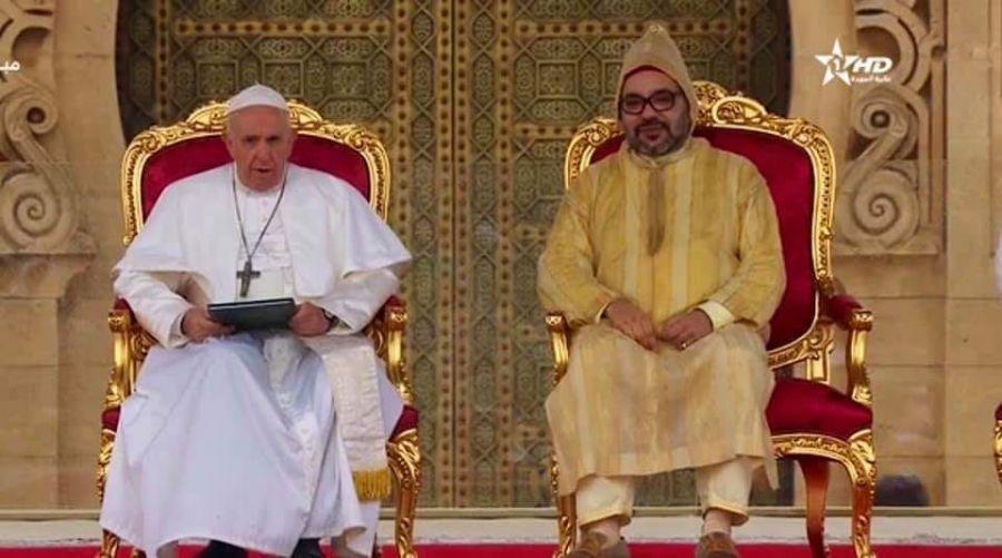 نص الخطاب الملكي أثناء استقبال قداسة البابا في الرباط