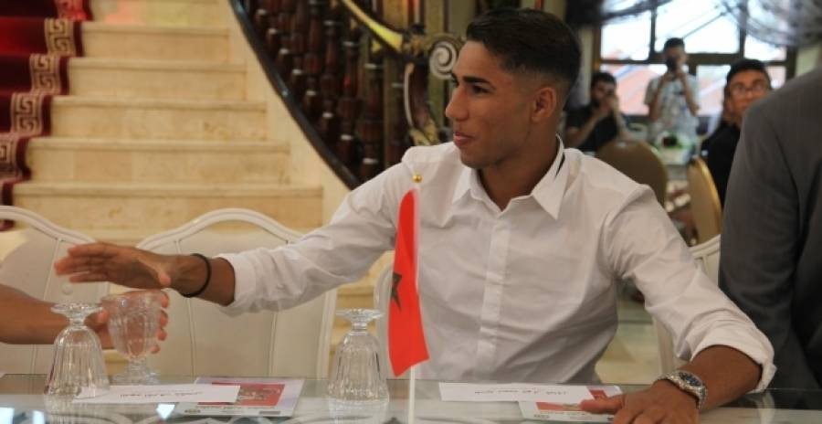 Tetouan: tribute to the Moroccan-spanish footbal player Ashraf Hakimi