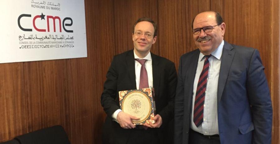 زيارة عمل لمسؤول في الخارجية الألمانية إلى مجلس الجالية المغربية بالخارج