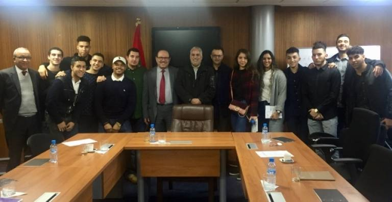 Rabat: A group of young Moroccans from the United States visits the CCME