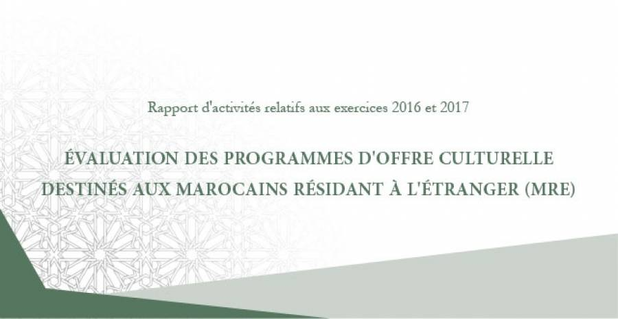 Report : The Moroccan Court of auditors on the national cultural policy of the Moroccans living abroad