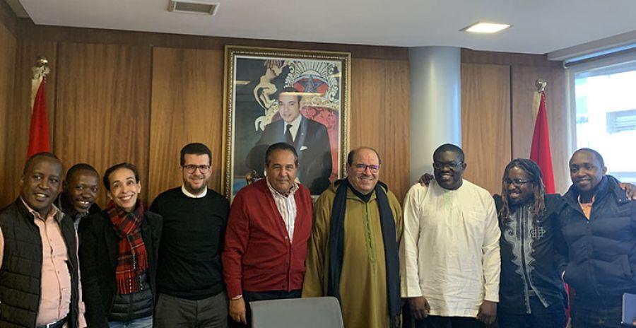 Une délégation de journalistes kenyans en visite au CCME