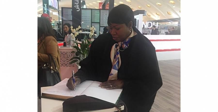 Visite de Mme Fatou Bensouda au stand du CCME