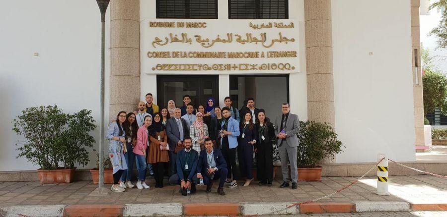 زيارة وفد من الطلبة المغاربة من إسبانيا إلى مجلس الجالية المغربية بالخارج